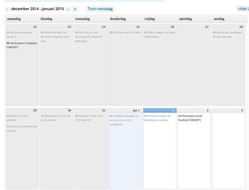 Wordpress-kalender