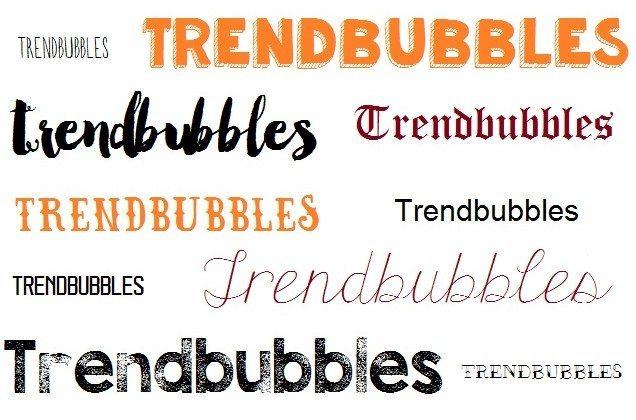 De leukste trendy lettertypes