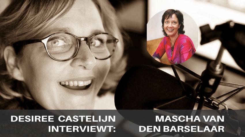 Interieurstyliste Mascha van den Barselaar wordt geïnterviewd door Desiree Castelijn op de Trendbubbles Podcast |trendbubbles.nl