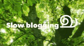 slow blogging | trendbubbles podcast