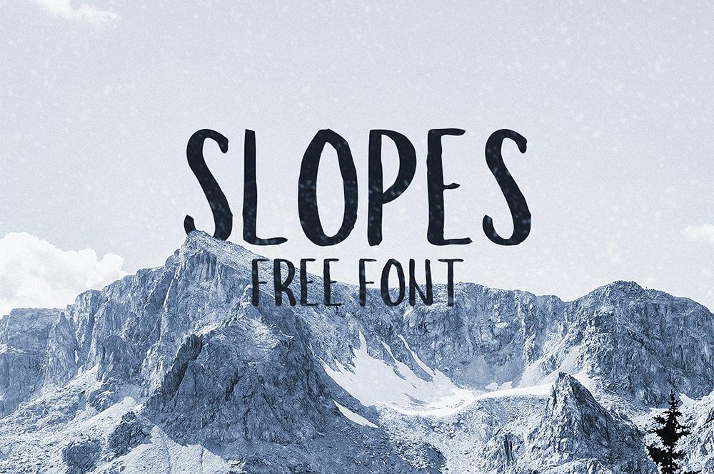 Slopes font