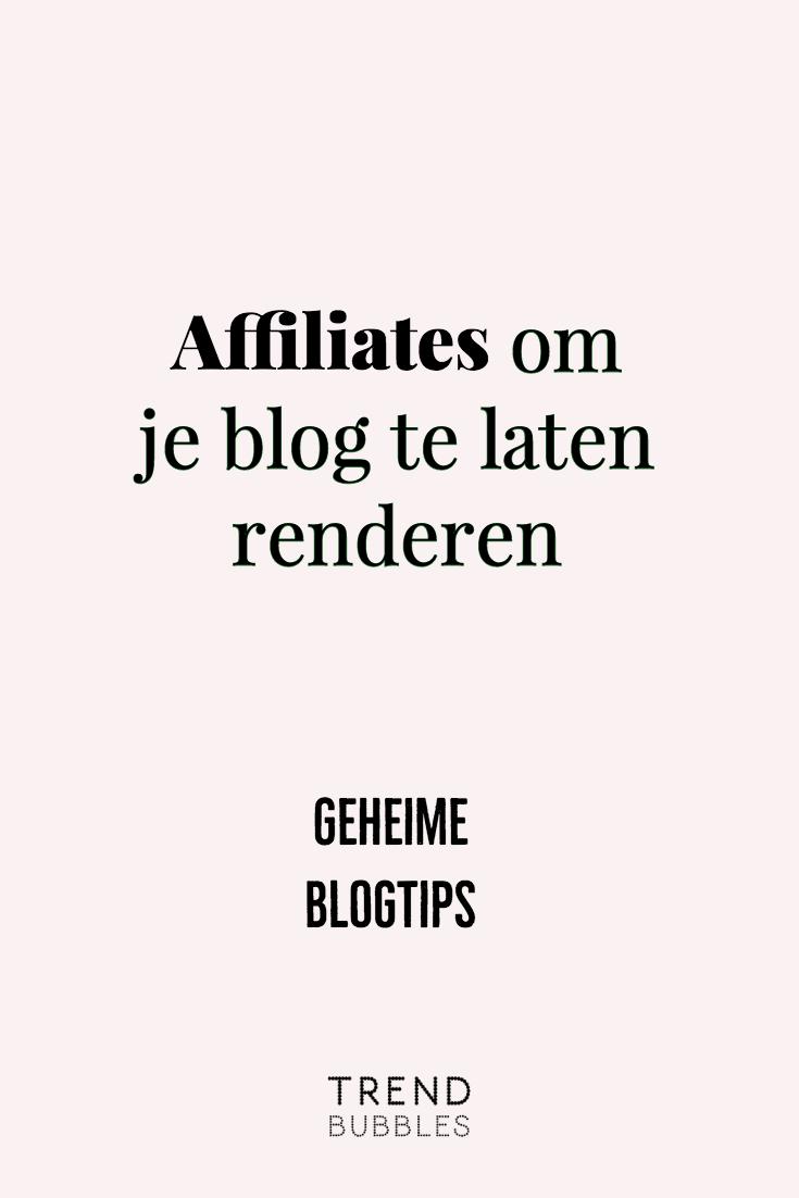 Affiliates om Je Blog te Laten Renderen | Mijn Geheime Blogtips. In deze blogpost behandel ik: wat affiliates zijn. Hoe je met jouw blog extra omzet kan maken. Hoe je op een authentieke manier met affiliates kunt werken. Bedrijven vindt waarmee je vandaag aan de slag kunt gaan!