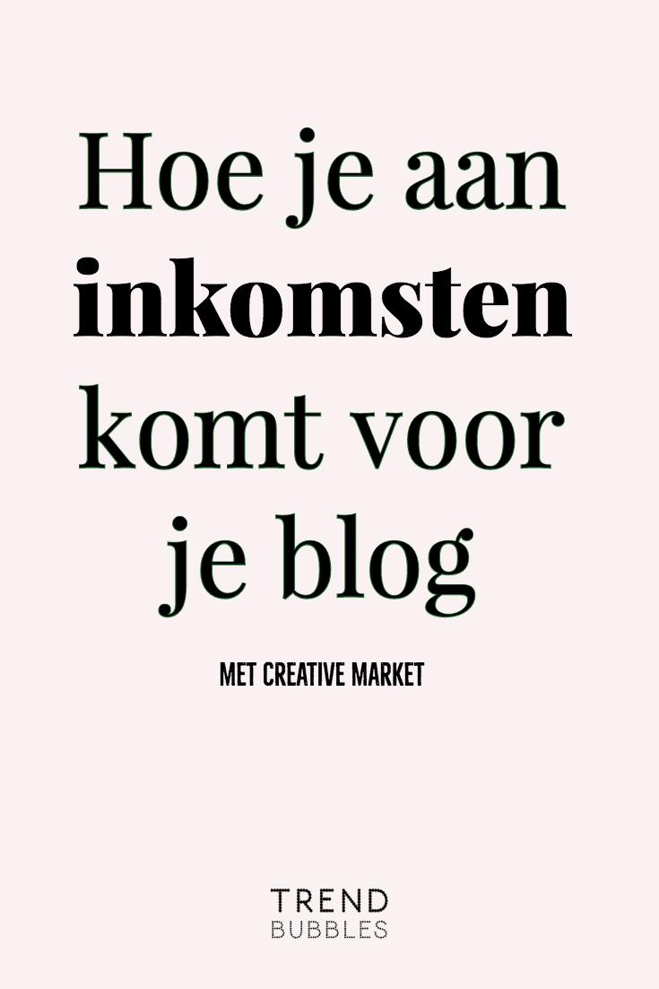 Hoe kom je aan inkomsten voor je blog met Creative Market. Maak gebruik van het affiliate programma.