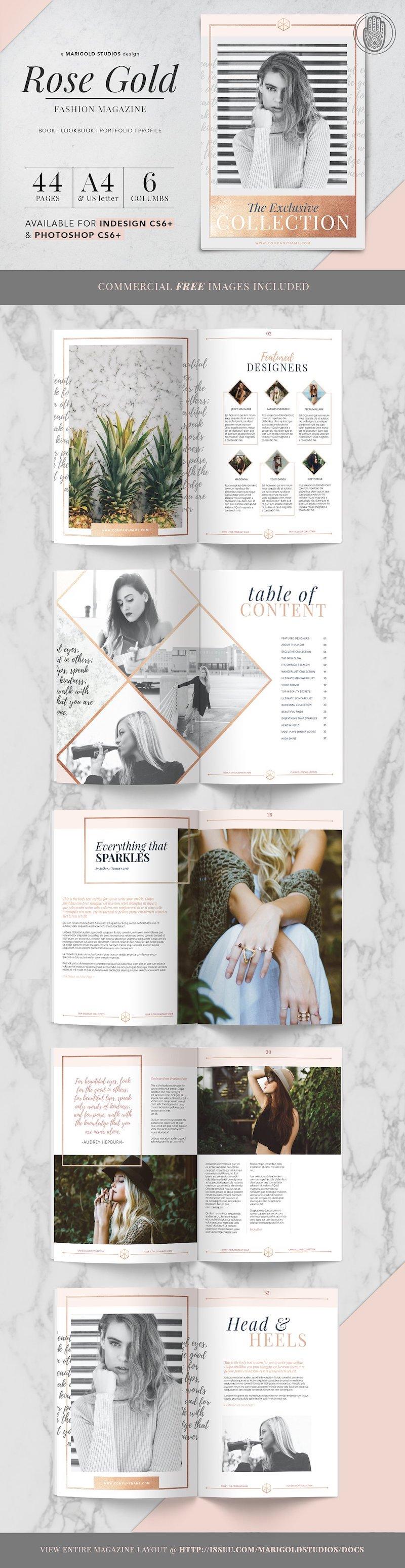 Stijlvol tijdschrift thema Rose Gold. Bekijk de hele pagina met Tijdschrift thema's op een rij.