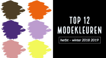 Top 12 modekleuren herfst – winter 2018 2019