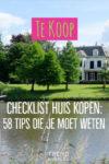 checklist kopen huis