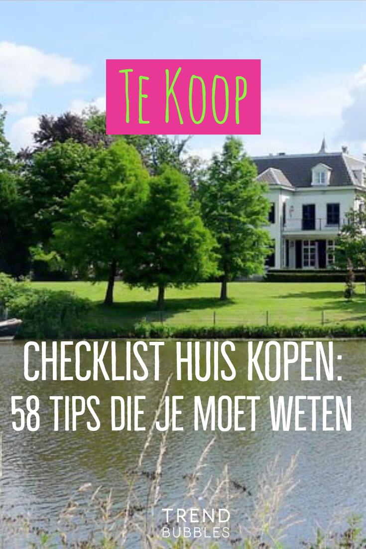 checklist kopen huis | bezichtiging huis voorbereiden