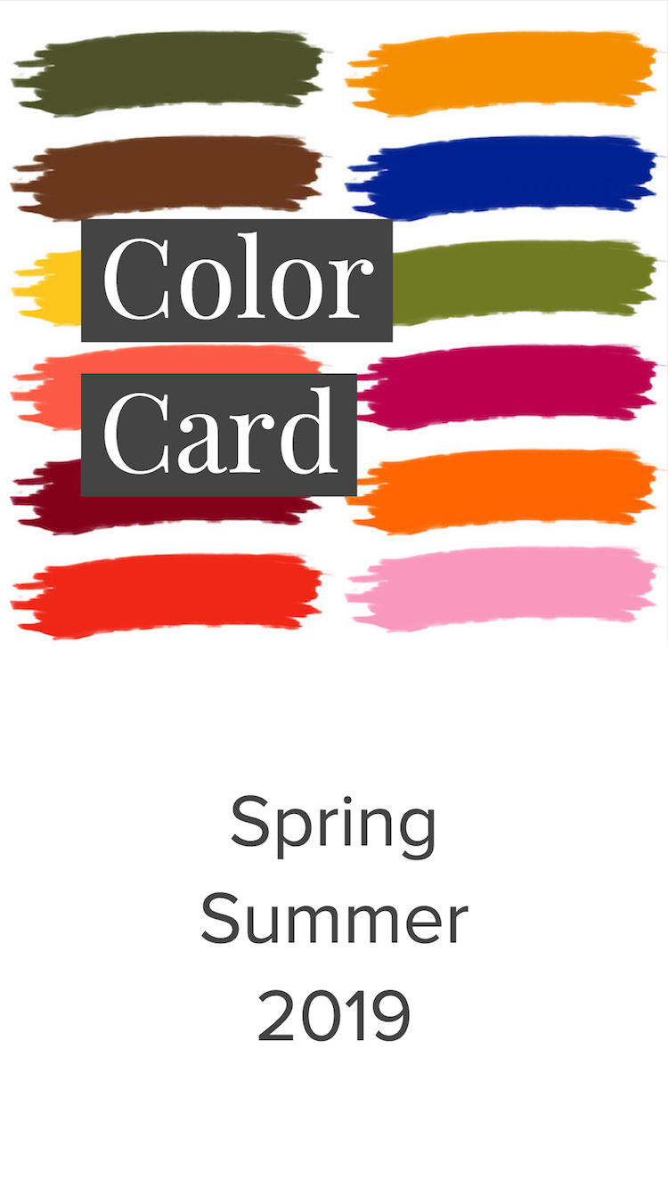 Spring Summer Color Card 2019