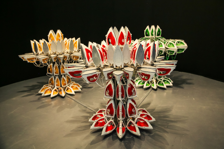 Joana Vasconcelos, Full Steam Ahead, Red 2012 Green 2013 Yellow 2014