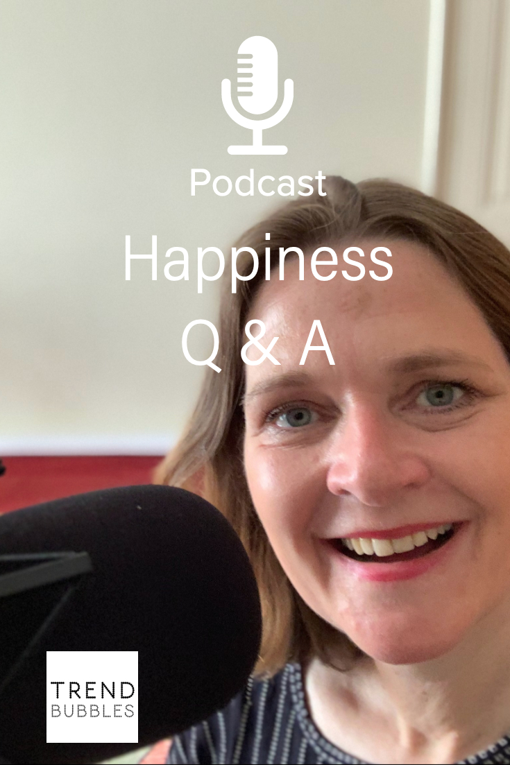 Q & A over Happiness in de Trendbubbles podcast